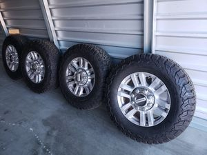 2017 ford f250 rims and tires for Sale in DEVORE HGHTS, CA