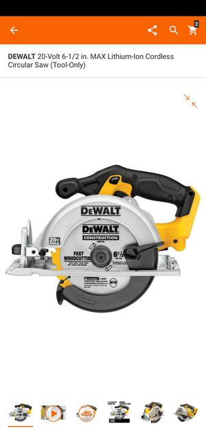 DEWALT 20-Volt 6-1/2 in. MAX Lithium-Ion Cordless Circular Saw (Tool-Only) for Sale in Dumfries, VA