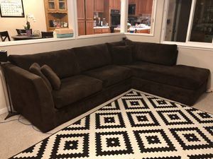 Brown Sectional Couch for Sale in San Jose, CA