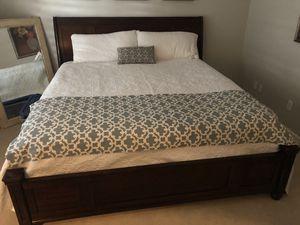 King Bedroom Set + King Mattress for Sale in Scottsdale, AZ