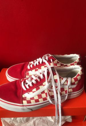 All red and white checkered vans for Sale in Union City, GA