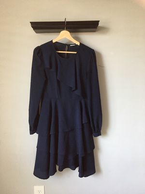 Midi Dark Blue Long Sleeve Dress Size S for Sale in Sacramento, CA