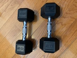 Barbell Coated Hex Dumbbells, Set of 2 20lbs for Sale in Brooklyn, NY