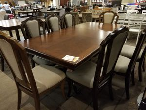 Large Wood Dining Table with Eight chairs for Sale in Phoenix, AZ
