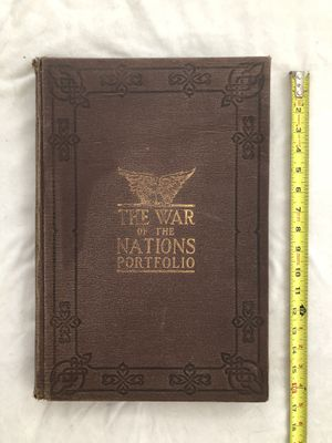 Antique over 100 years old: Copy right 1914 (WAR of the WORLDS) History book. Very in great condition for the age of book. One ripped page but still for Sale in Vacaville, CA