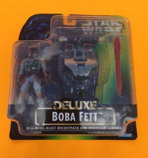 90s Star Wars Boba Fett Deluxe with WING BLAST ROCKETPACK AND OVERHEAD CANNON for Sale in Missoula, MT