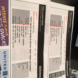 2 tickets to Celine Dion concert at United Center on December 1st. for Sale in Naperville, IL