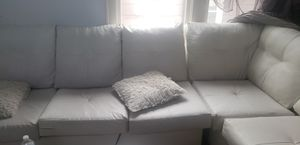 White leather sectional for Sale in Albany, NY
