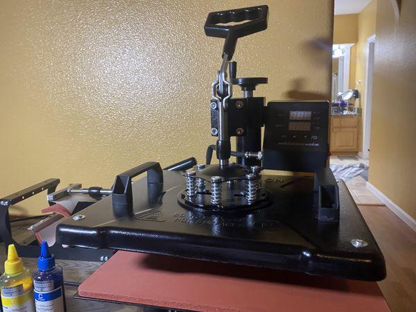 5 in 1 Heat Press 12x15 i 360-Degree Swing Away Digital Multifunction Sublimation Machine