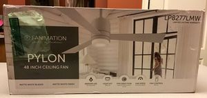 New Fanimation Studio Collection Pylon 48-in Matte White LED Indoor Ceiling Fan with Remote (3-Blade) for Sale in Bowie, MD