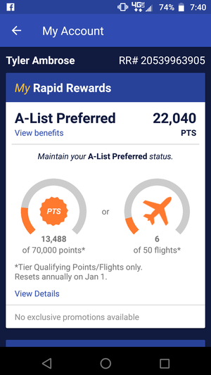 Any One Way or Roundtrip Southwest Airlines Flight(s) under $300 retail or 22,000 points..will sell for 25% off of retail ...BEST DEAL ANYWHERE for Sale in Scottsdale, AZ
