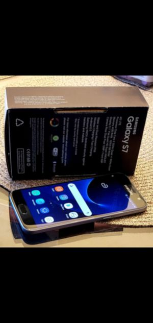New Black Samsung Galaxy S7 Unlocked DESBLOQUEADO Liverado T-mobile metro att Cricket International for Sale in Los Angeles, CA