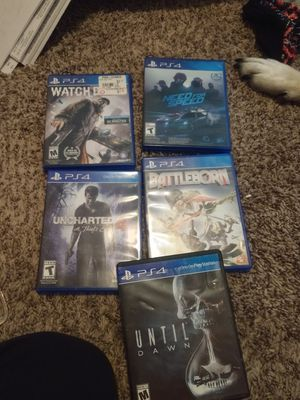 5 PS4 games obo for Sale in Lacey, WA