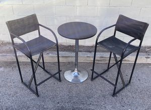 Canvas Outdoor Chairs with Adjustable Bar Table for Sale in Los Angeles, CA