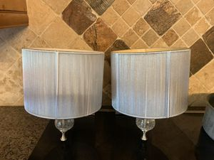 Pair of Chrome Metallic Wall Sconces Light Fixture for Sale in Miami, FL