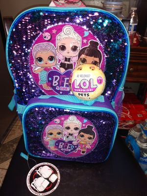 💕💕LOL SURPRISE BACKPACK WITH LUNCH BAG AND A NEW LOL SURPRISE PET!💕💕 for Sale in Riverside, CA