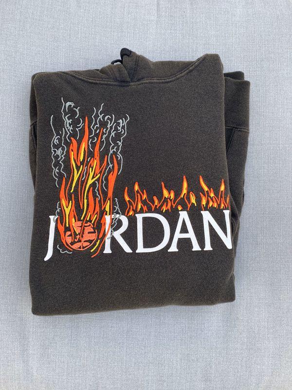Travis Scott X Jordan Brand Fleece Hoodie Size Medium