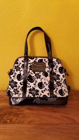 Loungefly X Hello Kitty black   cream floral velvet crossbody purse for  Sale in San Bernardino 069e5ce0c93ad