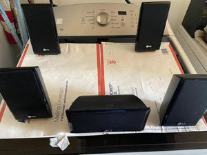 LG satellite surround sound speakers (5) for Sale in McClellan Park, CA