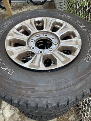 Ford F-250 rims and tires. for Sale in Bayville, NJ