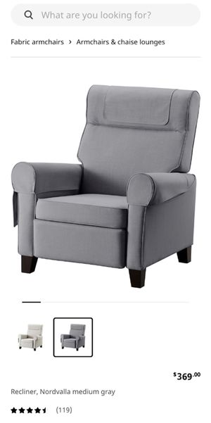 Gray Recliner Chair - OBO for Sale in Long Beach, CA