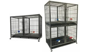 Stackable dog crate with divider for Sale in Bellingham, MA