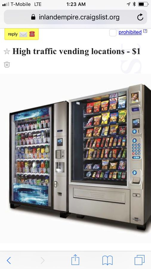 Vending machines moving $100 for Sale in Los Angeles, CA - OfferUp