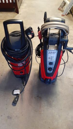 Husky electric power washers. One works great. The other doesn't throw as much pressure for some reason. Both for $150 for Sale in Beltsville, MD