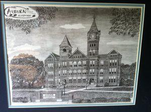 Custom drawing of Auburn University for Sale, used for sale  Alpharetta, GA