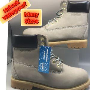 Waterproof Men's. Nubuck Gray Work Boots many's Sizes for Sale in Eatontown, NJ