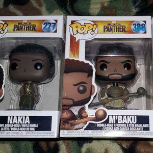 Black Panther Funko Figures M'Baku, Nakia And Klaue (Group Of 3) for Sale in Trenton, NJ
