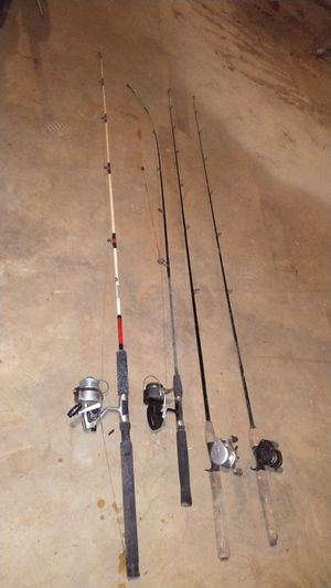 Fishing rod n reels for Sale in Stokesdale, NC
