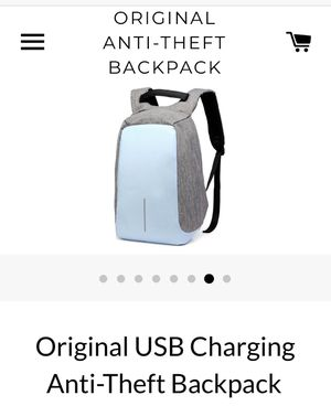 USB charging, Anti theft backpack (blue) for Sale in Lebanon, TN