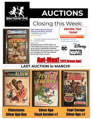 Comic Book & Collectables Auction Closes Sunday! for Sale in Mesa, AZ