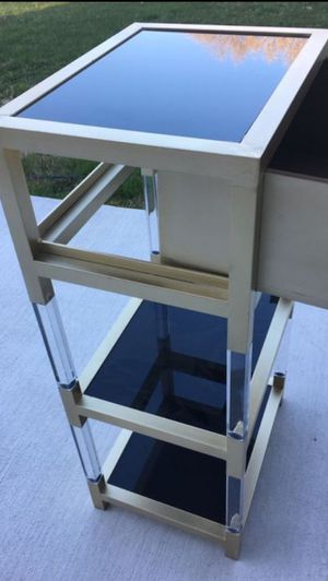 Mirrored black glass one drawer 2 shelves. for Sale in Linthicum Heights, MD