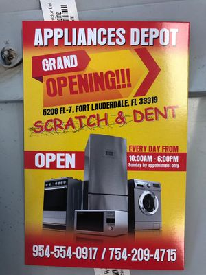 Scratch and dent appliances all you need for Sale in Fort Lauderdale, FL