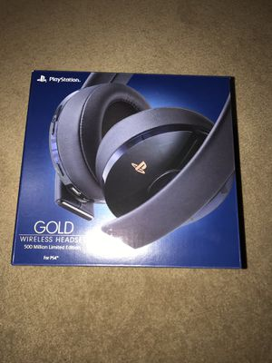 PlayStation Gold Wireless Headset 500 Million Limited Edition - PlayStation 4 [Discontinued] for Sale in Rockville, MD
