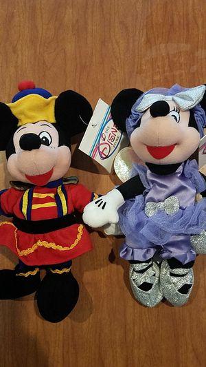 Disney Nutcracker Mickey & Sugar Plum Fairy bean bags for Sale in Campbell, CA