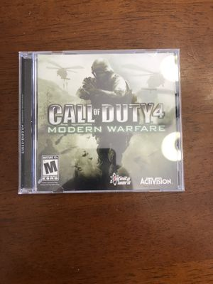 Call of Duty 4 Modern Warfare PC DVD-ROM Game! Great Shape, See Photos! for Sale in Phoenix, AZ