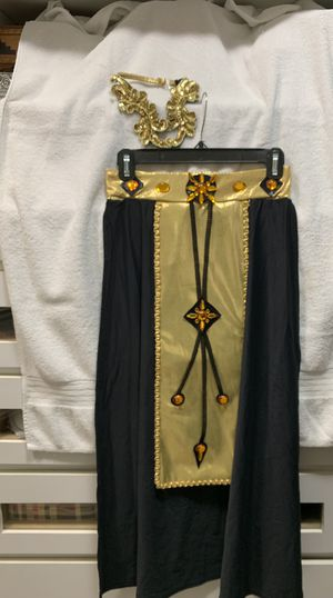 Costume Egyptian, ballet, black widow, Madam satin corset and long dress for Sale in Miami, FL