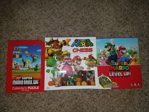 NINTENDO Super Mario Chess,Boardgame, and Puzzle lot for Sale in Lake Forest Park, WA