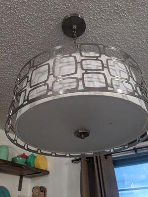 Chandelier lighting fixture chrome OBO for Sale in Saginaw, TX