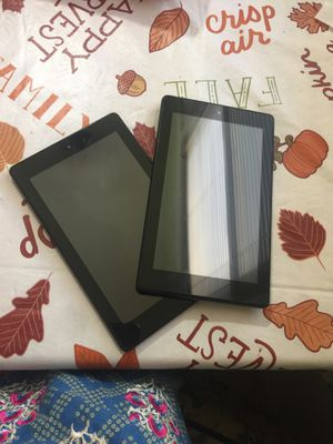 Two great Condition amazon fire tablets for Sale in Chicago, IL
