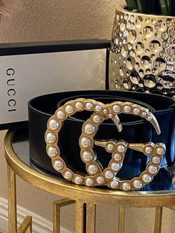 Pearls Wide Belt Huge 3.75 Inch Buckle Black Cinto for Sale in Blue Diamond,  NV