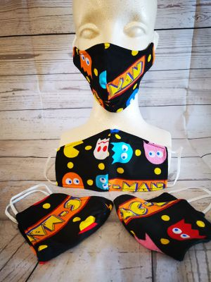 Adult Face mask, Facemask (Pac-Man Retro): Hand made mask, reversible, reusable, washer and dryer safe. Halloween #Milwaukee #Klein tools for Sale in Long Beach, CA