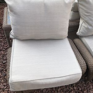 allen + roth 2-Piece Madera Linen Dove Grey Deep Seat Patio Chair Cushions for Sale in Las Vegas, NV