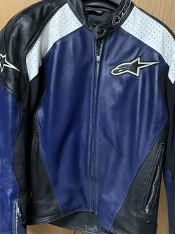 Used Size 46 Alpinestar Leather Motorcycle Jacket for Sale in Buckley,  WA