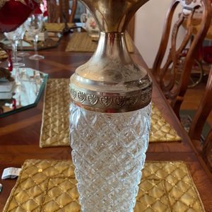 Crystal Decanter Bottle 15 inches Tall for Sale in Stone Park, IL