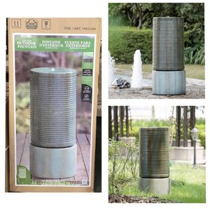 Modern Ribbed Self-contained Outdoor Fountain BACK TO SCHOOL SAVINGS!!! for Sale in Stafford, TX