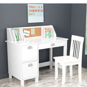KidKraft Kids Study Desk with Chair-White for Sale in Columbus, OH